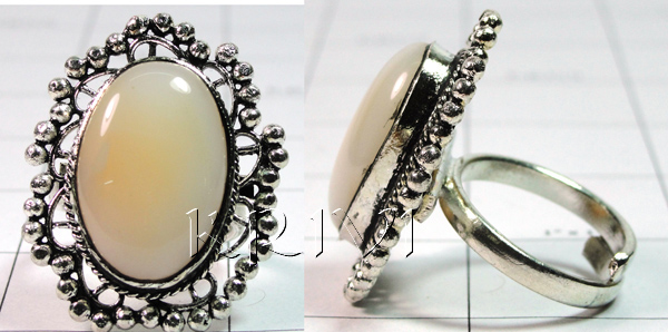 KRLL09012 Wholesale German Silver Gemstone Ring