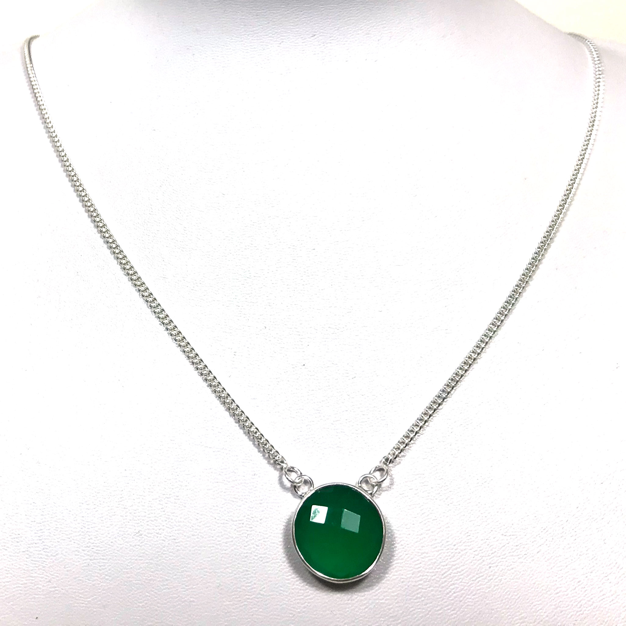 onyx product tourmaline silver zevar pendant with necklace green