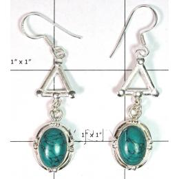 KELL09A02 Turquoise German Silver Earring