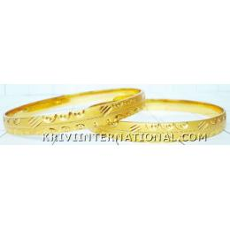 KKKT06038 Pair of artificial gold plated kadas