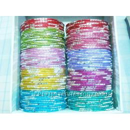 KKLK03019 Package of 12 thin metal bangles