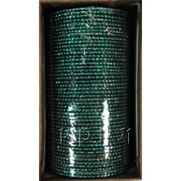 KKLL10B07 4 Dozen Green Metal Bangles Choori with Glitter Handiwork
