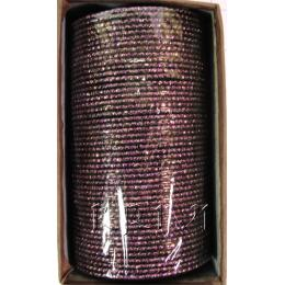 KKLL10C07 4 Dozen Purple Metal Bangles Choori with Glitter Handiwork