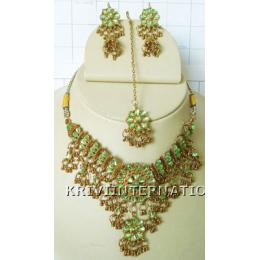 KNLK12001 Beautifully Crafted Costume Jewelry Necklace Set
