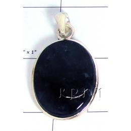 KPLL09131 Wholesale German Silver Moss Agate Pendant