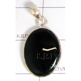 KPLL09134 Exotic White Metal Moss Agate Pendant