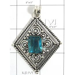 KPLL09172 Beautiful White Metal Jewelry Pendant