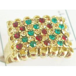 KRKS07003 Wholsale Indian Colored  Stone Ring