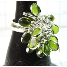 KRLL09009 Exclusive German Silver Gemstone Ring