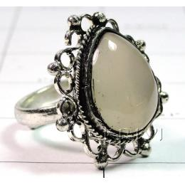 KRLL09013 Fine Quality German Silver Gemstone Ring