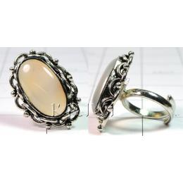 KRLL09015 Fashionable German Silver Gemstone Ring