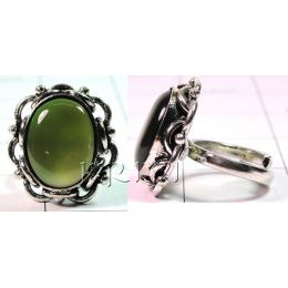 KRLL09016 Elegant German Silver Gemstone Ring