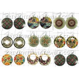 KWLL09069 Wholesale lot of 25 pair Disc Earrings